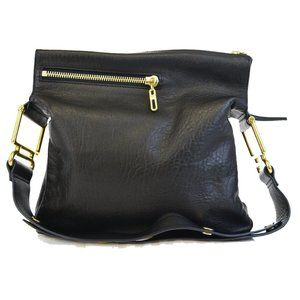 CHLOE Logos One Shoulder Bag Leather Black Gold